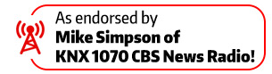 Endorsed by Mike Simpson of KNX 1070 CBS news radio